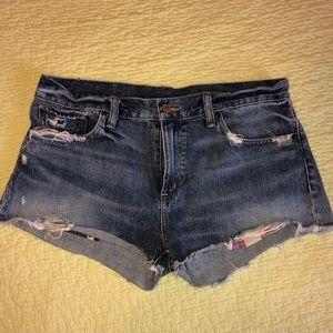 Ralph Lauren Denim & Supply Distressed Jean Shorts
